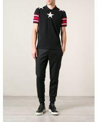 Givenchy Star Print Polo Shirt - Lyst