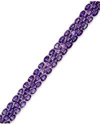 Macy's Us Amethyst Three-Row Bracelet In Sterling Silver (25 Ct. T.W.) - Lyst
