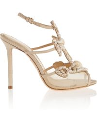 Charlotte Olympia Shore Thing! Embellished Mesh And Canvas Sandals - Lyst