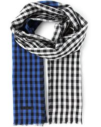 Burberry Two Tone Check Scarf - Lyst