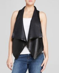 Eileen Fisher - The Fisher Project Draped Leather Vest - The Fisher Project - Lyst