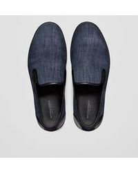 Bottega Veneta | Sneaker In Dark Navy Denim | Lyst