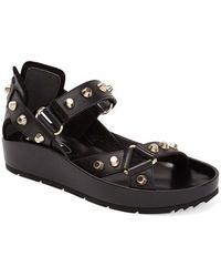 Balenciaga Studded Leather Sandal - Lyst