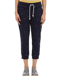 Band Of Outsiders Embroidered Cropped Sweatpants - Lyst