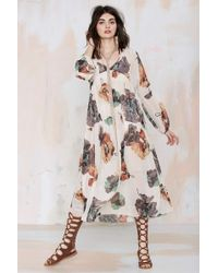 Nasty Gal After Party Vintage Kassidy Sheer Dress - Lyst