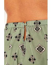 Urban Outfitters - Green Print Pyjama Shorts - Lyst