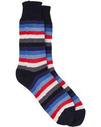 Corgi Men's Striped Mid-calf Socks