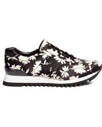Tory Burch | Orchard Print Sateen Sneakers | Lyst