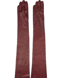 Missoni Leather Gloves - Lyst