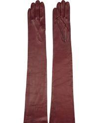 Missoni Leather Gloves - Lyst