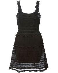 Lanvin Black Sleeveless Dress - Lyst