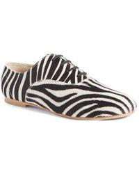 Junya Watanabe - Zebra Print Genuine Calf Hair Oxford - Lyst