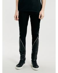 Horace Black Leather Jeans - Lyst