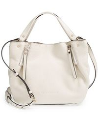 Burberry 'Small Maidstone' Leather Satchel white - Lyst