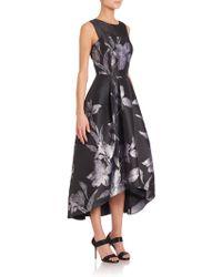 Shoshanna | Noir Floral Jacquard Coraline Dress | Lyst