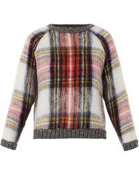 Sea Tartan Wool-blend Sweater - Lyst