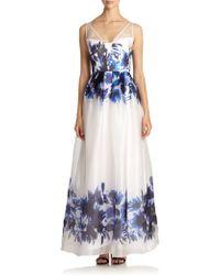 Milly Mirage Silk Organza Gown - Lyst
