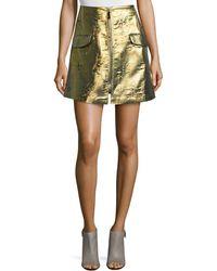 Risto - Evil Tree Metallic Skirt - Lyst
