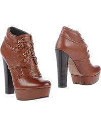 Rachel Zoe Brown Ankle Boots - Lyst