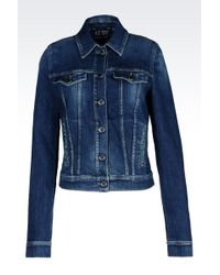Armani Jeans Denim Jacket - Lyst