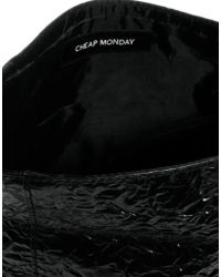 Cheap Monday - Crinkle Pu Roll Over Clutch Bag - Lyst