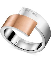 CALVIN KLEIN 205W39NYC - Two-tone Bypass Ring - Lyst