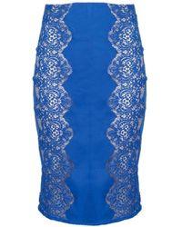 Lover Chelsea Pencil Skirt Royal Blue - Lyst