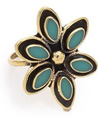Sunahara - Flower Midi Ring - Lyst