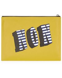 Kenzo Oui & Non Leather Pouch - Lyst