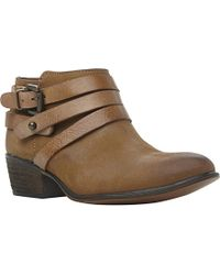 Steve Madden Regennt Strapped Leather Booties - Lyst