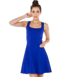 Akira Black Label Skating Around Cobalt Dress - Lyst