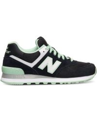 New Balance Women'S 574 Casual Sneakers From Finish Line black - Lyst