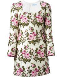 Blumarine Layered Crochet Embroidered Roses Dress - Lyst