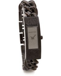 Michael Kors Hayden Watch Black - Lyst