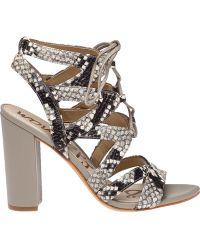 Sam Edelman | Yardley Gillie Snake-Print Sandals | Lyst