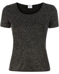 Armani - Short Sleeve All-Over Sparkle Top - Lyst