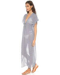 Josa Tulum - Rustic Thin Stripe Cover Up Dress - Lyst