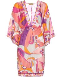 Emilio Pucci Printed Cotton And Silk Tunic - Lyst