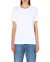 Acne Studios Loosefitting Cotton Tshirt White - Lyst