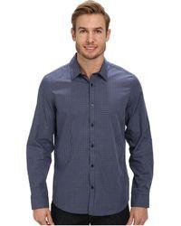 Calvin Klein Fine Multicheck Dobby Long Sleeve Woven Shirt - Lyst