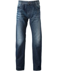 Diesel Faded Straight Leg Jeans - Lyst