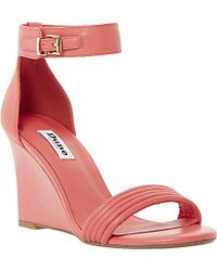 Dune Karla Leather Wedge Sandals - For Women - Lyst