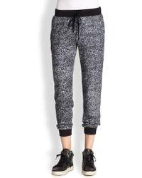 Splendid Meacutelange-knit Drawstring Sweatpants - Lyst