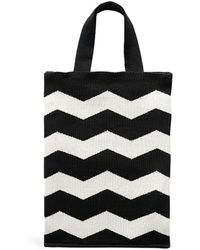 Hansel From Basel - Zigzag Knit Shopper Bag - Lyst