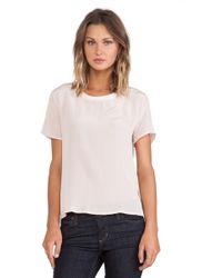 Anine Bing Short Sleeve Silk Shirt - Lyst