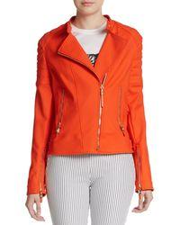 Versace Cotton-Blend Moto Jacket - Lyst