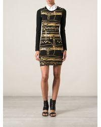 Versus  Chainprint Jersey Dress - Lyst
