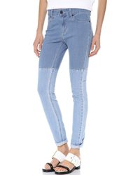 Surface To Air | Horizontal Super Skinny Jeans Light Blue | Lyst