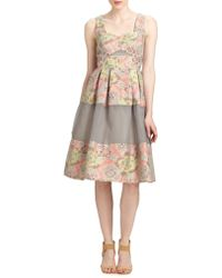 Erdem Pleated Paneled Dress - Lyst
