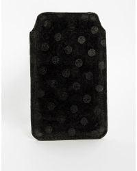 Ganni - Leather Iphone Case - Lyst